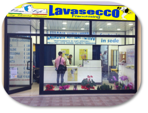 Lavasecco in Franchising Clean Life/Pontinia
